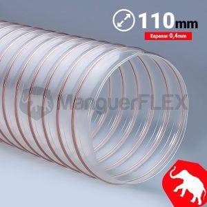Tubo flexible aspiración 110 mm