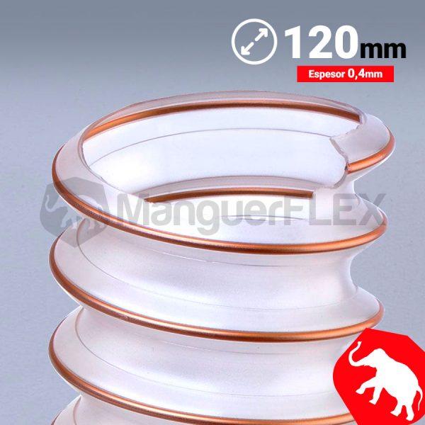 Tubo flexible aspiración 120 mm