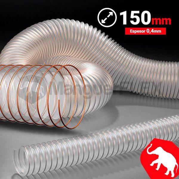 Tubo flexible aspiración 150 mm