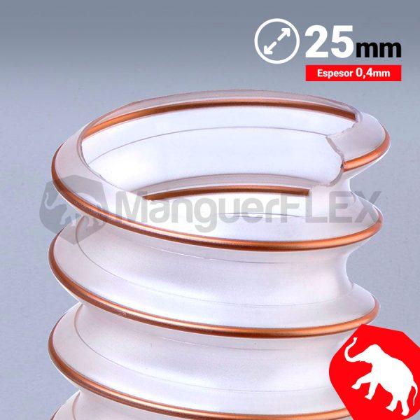 Tubo flexible aspiración 25 mm