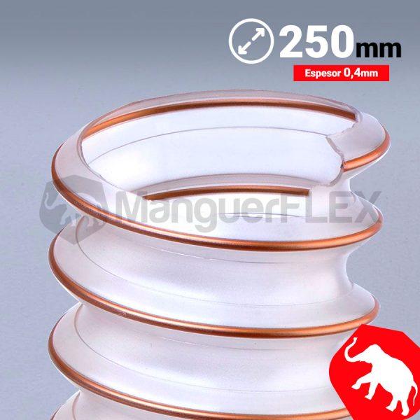 Tubo flexible aspiración 250 mm