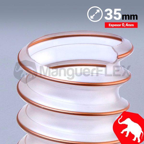 Tubo flexible aspiración 35 mm